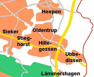 Unsere Pflegebezirke in Bielefeld